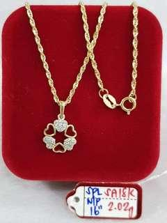 NECKLACE WITH PENDANT GOLD 916 #3
