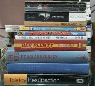 Books (Classic Lit, Filipino Novel, Russian Lit/History, Nonfic, Children's Lit, Fantasy, Mystery/Thrillers)
