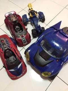 Set of 4 Superheroes Vehicles