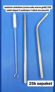 Silver Stainless Straw