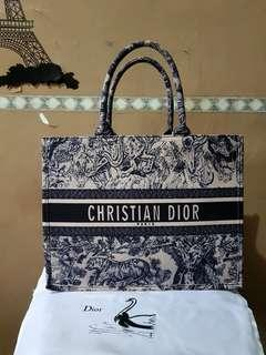 Dior oblique tote (canvas super premium)