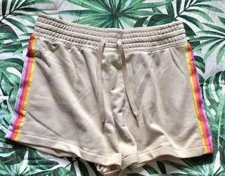 HnM rainbow beige shorts