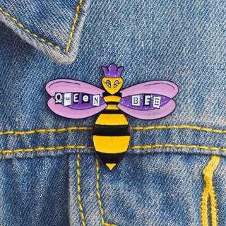 Fashion Insect Quuen Bee Colourful Enamel Lapel Button Pin Badge Brooch