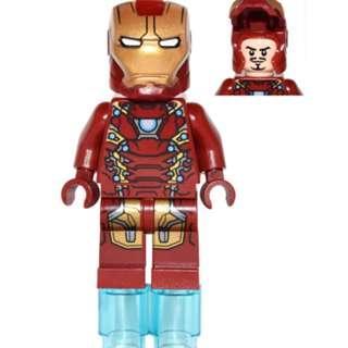 Lego 76051- Iron Man Mark 46 Armor - Partial Circle on Chest (SH254)  連武器及特效配件