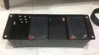 Ebike battery rack for moto seat