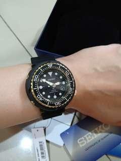 Seiko Prospex SNE498P1 Solar Tuna Black Gold Second Like New Fullset msh garansi