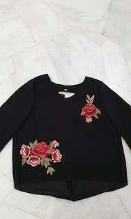 🚚 Clearance Floral Embroidery Top (Free Mailing)