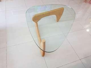 🚚 *Clearing* Coffee table clear glass Noguchi beige base