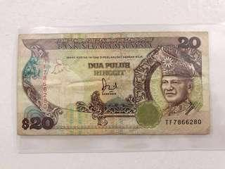 RM 20 Malaysia Old Note