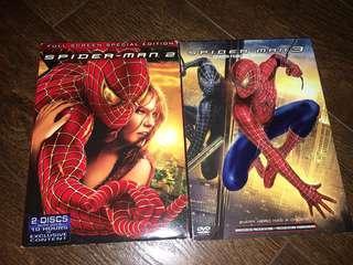 Spider-Man 2 & 3 DVDs