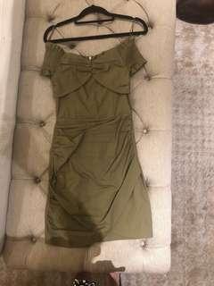 Seed Army Green Mini Dress