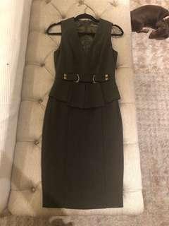 Sheike Dark Olive Green Dress Size 8