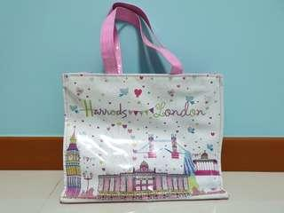 🚚 Pink Harrods Large Tote Bag