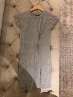 Bardot Grey Mini Dress Size 6