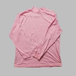 Pink High Neck Top Unisex