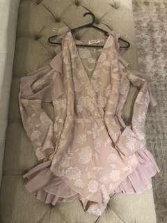 Sweet Pot Floral Baby Pink Jumpsuit Size 10