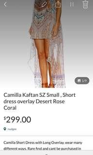 Camilla short dress long overlay Desert Rose