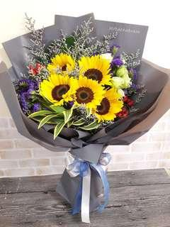Fresh Flower 🌼🌻 5 Sunflower Bouquet
