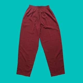 Vintage Pants Maroon