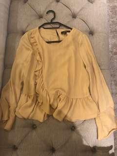Piper Mustard Blouse Size 6