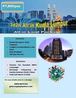 3d2n ALL IN KUALA LUMPUR MALAYSIA ALL IN PACKAGE