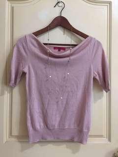 日牌 OZOC 日製 粉色 毛衣針織衫   38= Xs. S適合