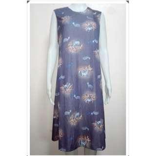 Deer Printed Dress