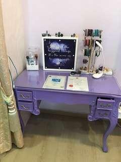 🚚 Custom made Victoria Purple with Gold handler Desk