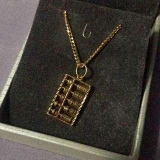 916 gold unisex abacus necklace