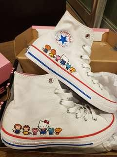 Brand new converse x hello kitty high tops size 35