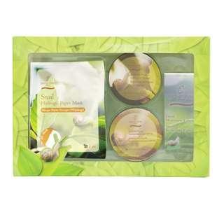 法國 BIO-C-ZIWI 蝸牛禮盒套裝 (精華+日霜+面霜+面膜)(美容院專用) 保濕 收復 滋潤 全方位修護 回復彈性