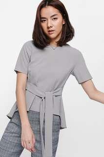 Love Bonito Grey Asymmetrical Top Size XS