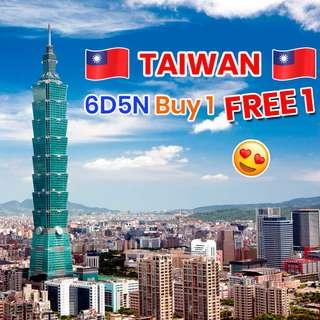 Taiwan BUY 1 FREE 1 6D5N Touch My Heart Promotion!