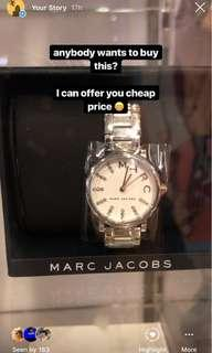 MARC JACOBS original watch silver
