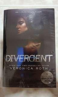 Plastic wrapped Divergent book by Veronica Roth