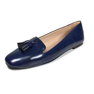 ZARA TASSELED SLIPPERS  藍色平底鞋