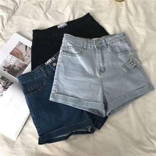 AA High Waisted Denim Shorts
