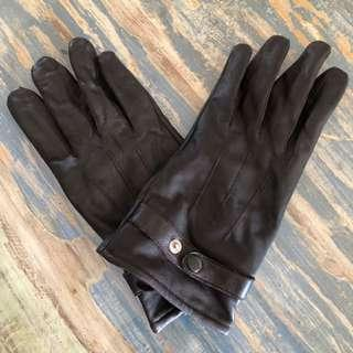🚚 Dark Brown Leather Gloves