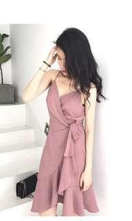 Rose Pink Tie Dress