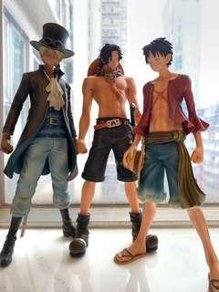 海賊王figure 艾斯 路飛 薩波 三兄弟One piece 海賊王公仔