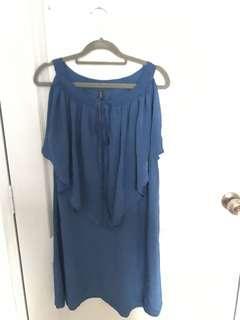 BRAND NEW: Chiffon Dress (BLUE)