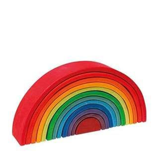 🚚 Rainbow wooden blocks
