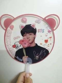 BTS JIN TRANSPARENT FAN