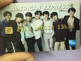 BTS PVC BANK CARD (AMERICAN EXPRESS CREDIT CARD )