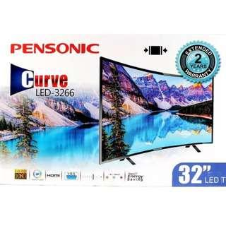 Pensonic TV 32 Inch Curve LED 3266 Television