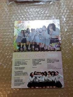 Yes Card Transparent card Twice