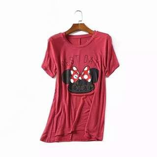 Red Mickey Mouse Top