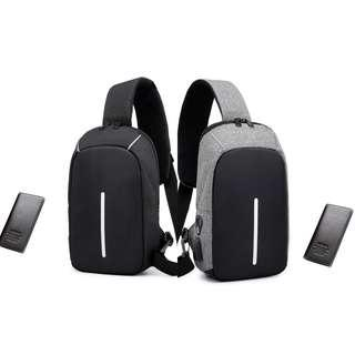 🚚 SALE! Leisure Anti Theft With Wallet Casual Sling Zip Chest Bag
