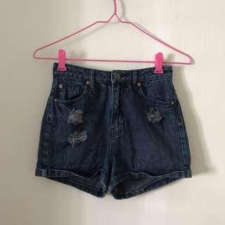 🚚 Cotton on High wasted Denim ripped shorts