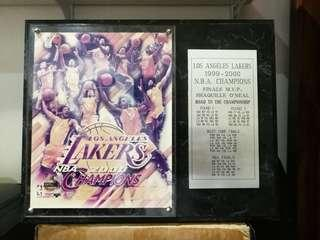Lakers Championship Plaques